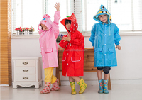 Supply Polyester Cartoon Funny Child candy color animal duck frog rabbit raincoat kids