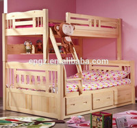 High Quality Bedroom Kids Furniture Cheap Price Wooden Kids Solid Wood Bunk Beds