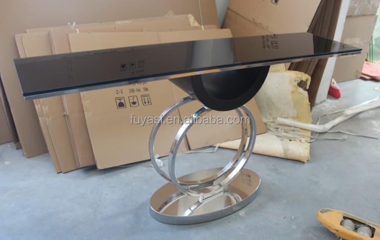 콘솔 테이블 거울 현대적인 유리 콘솔 테이블 콘솔 테이블 ...