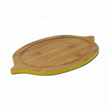 Lemon shape Cutting Boards for Kitchen Bamboo Wood Chopping Board Professional Wooden Butcher Block with Juice Groove