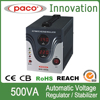 China well-known trademark single phase 500VA 12/24v auto voltage stabilizer digital display