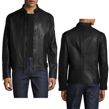 Wholesales mens clothes latest fashion man custom motorcycle PU /faux leather Biker Jacket