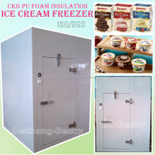 CKD PU foam insulation ice cream freezer storage cold room