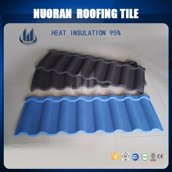 Nuoran most popular roofing material stone coated brick metal spanish roof tiles