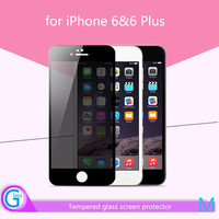 Full body cover glass screen protector privacy for iPhone 6