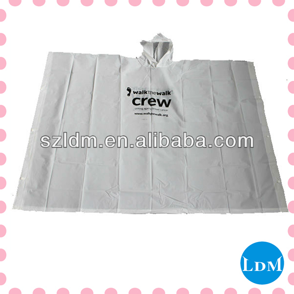 Disposable Pe Pocket Rain Poncho