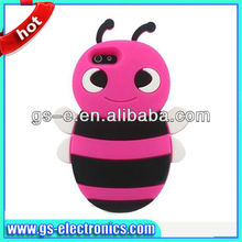 3D Honey Bee Shape Soft Silicone Skin Rubber Gel Case Cover for iphone 4 Bee Case