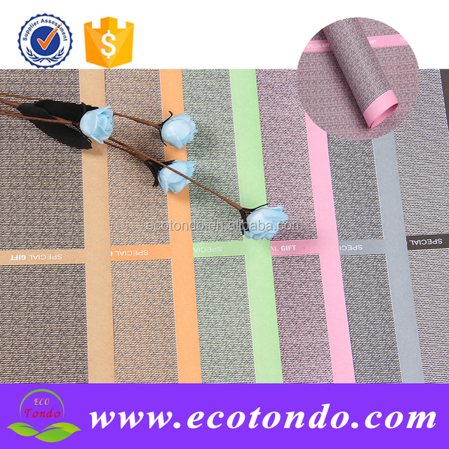 unique the linen paper for wrapping flower,flower wrapping paper