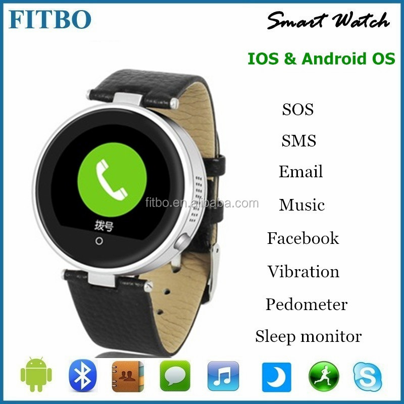 1.22inch G+G Screen unlocked smart watch mobile phone for Samsung s5