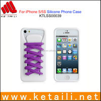 New Coming Shoe Lace Style Silicone Mobile Phone Cover Made in China
