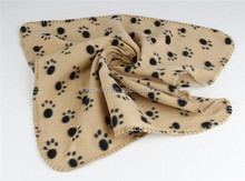 Paw printed polar fleece Pet blanket for dog and cat blanket