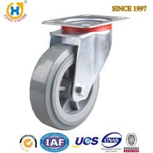 "Cost-effective 8"" PU European Heavy Duty Caster With Dust cover,Roller Bearing,250KG Load Capacity."