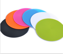 Fashion wholesale Heat-Proof Silicone Coasters, Personalized Cold-resisting Silicone Cup Mat