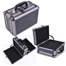 Multifunction iron grey ABS aluminum truck tool box for screwdriver