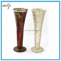 Glass Colored Tall Mosaic Vases Wholesale Used Decorage