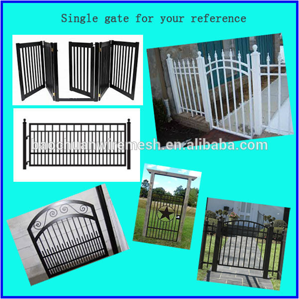 Wrought iron main house gate