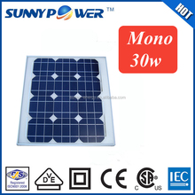 factory direct 30w mono price per watt solar panel with professional solar panel production line for street light