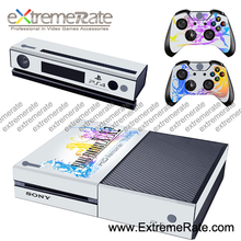 simpleness and beautiful white theme design Brand new Good quality Vinyl Cover skin for Xbox one console controller GSTM0110