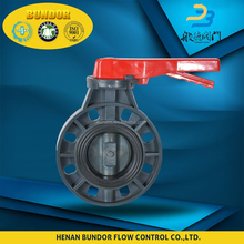 2016 china supplier new products pn25 tomoe plastic pvc butterfly valve