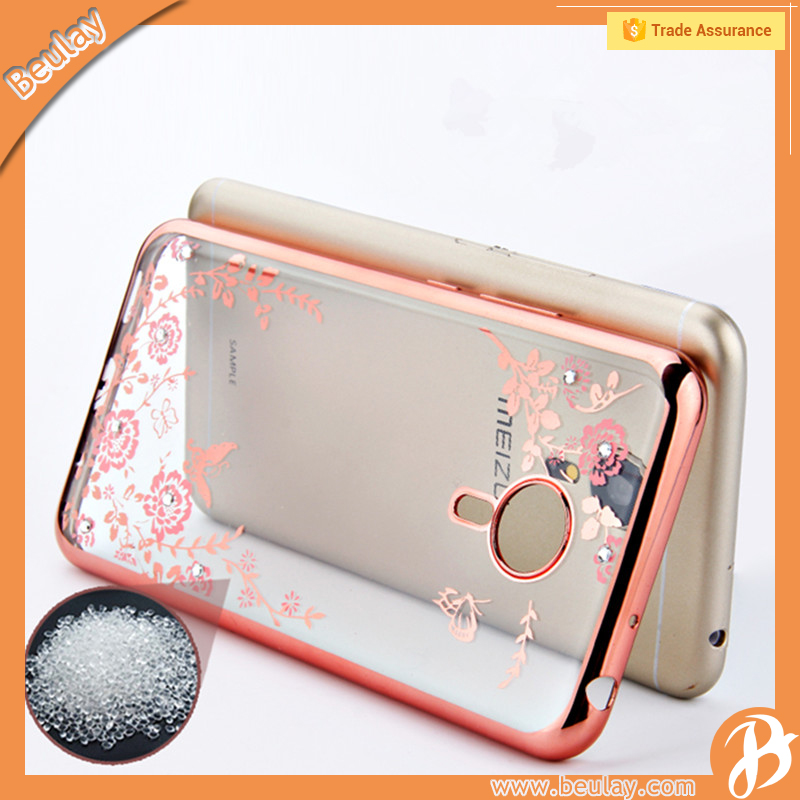 Wholesale transparent plastic mobile phone case cover for Meizu note m3