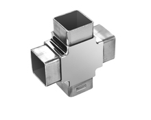 40mm 3 way TEE type stainless steel casting square tube joiner