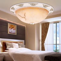 European style bedroom ceiling lamp, exquisite resin balcony light ,the circular glass cover light