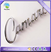 metal letters stickers with 3M adhesive, metal car emblems and letters