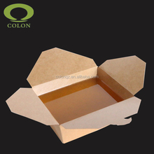 Eco-friendly disposable rice box kraft packaging