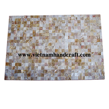 Eco-friendly hand lacquered vietnamese mother of pearl lacquered bamboo placemats