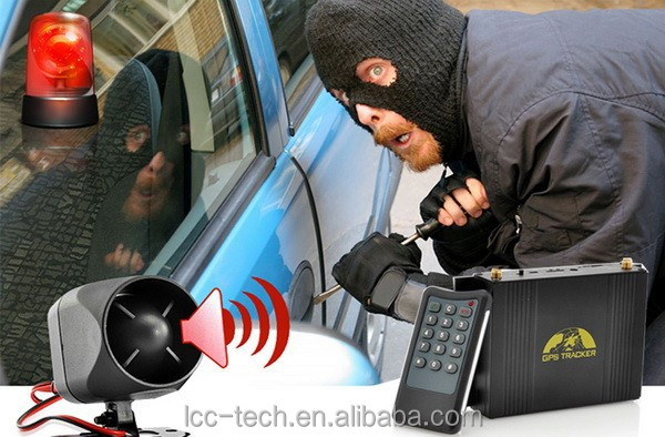 Theft Protection with Central Locking System for professional gps gsm tracker for automobile