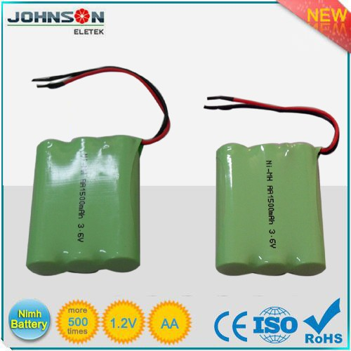 the ni-mh rechargeable battery pack ni-mh aa 800mah 3.6v battery packs