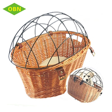 Wholesale removable bike basket pets front handmade wicker bicycle basket for dogs