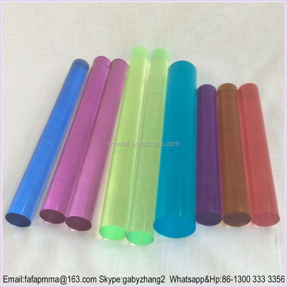 Round Colored Acrylic Rod , Colored Plexiglass Bar
