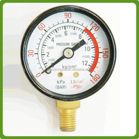 black steel bourdon tube pressure gauge manufacturer