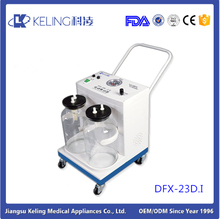 DFX-23D.I portable Portable Mobile Dental Suction Unit Electrical Surgical Suction Apparatus Price