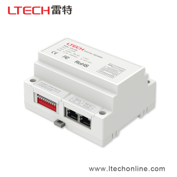 China Supplier LTECH New DIN rail 8CH Constant Voltage LED DMX Decoder, Flicker-free, 5 years warranty