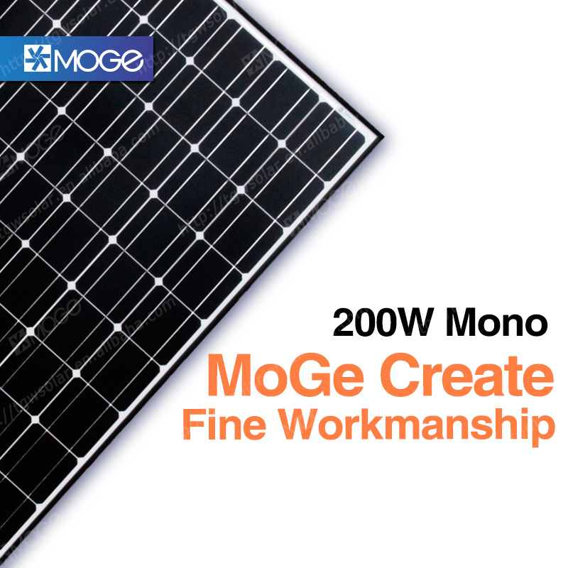 Moge monocrystal 200w double glass solar panel dealers in germany