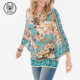 Wholesale Lady 2018 Fashion Women Casual Tops Floral Kimono-sleeve Top