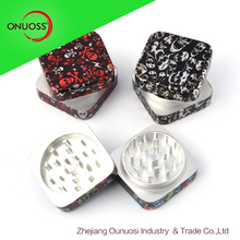 Zhejiang Onuoss Square Shape 2 Parts Tobacco Shredder