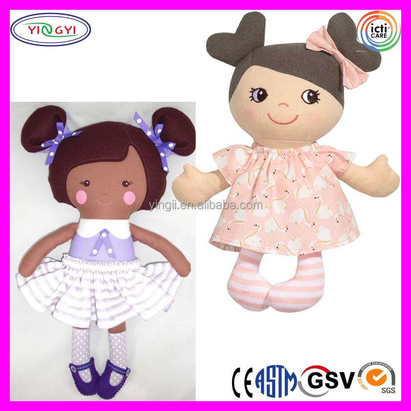 A912 Shenzhen Make Small Girl Baby Doll Stuffed Plush Rag Girl China Doll Pictures
