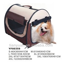 Dog accessories outdoor dog carrier bag with steel