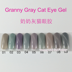 2018 New Products UV Gel MOQ 12 PCS Granny Grey Cat Eye Gel Nail Polish