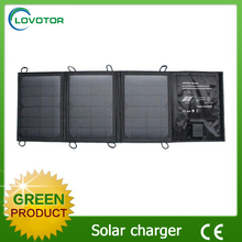 Dual usb port foldable portable solar cell charger solar charger for mobile laptop