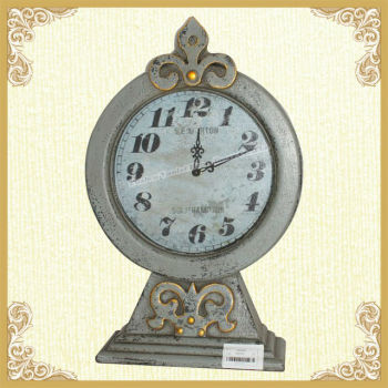 CHeap antique metal table top clock wholesale