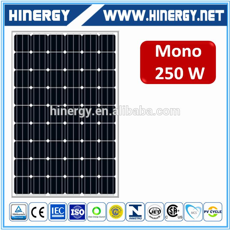 High efficiency low cost 250w solar panel recom brand black pv panel 250w monocrystalline
