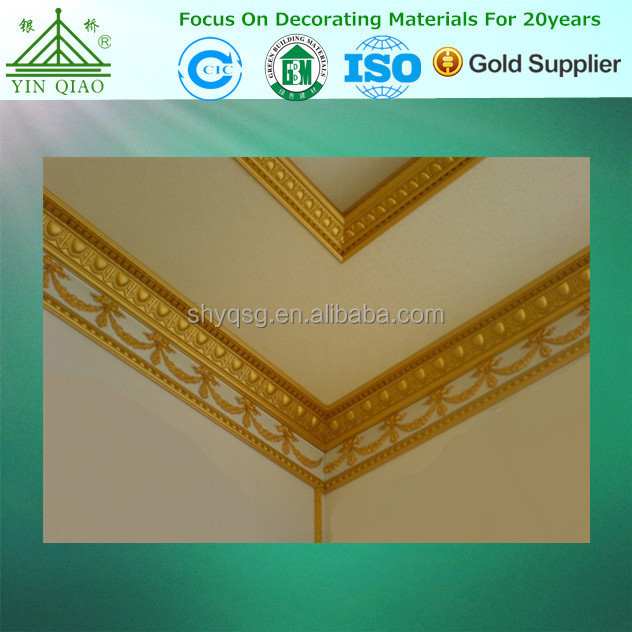 House Inside Decoration Gypsum lumps Type Plaster Cornice Moulding Board