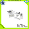 Wholesale cheap custom cufflinks engraved for wedding
