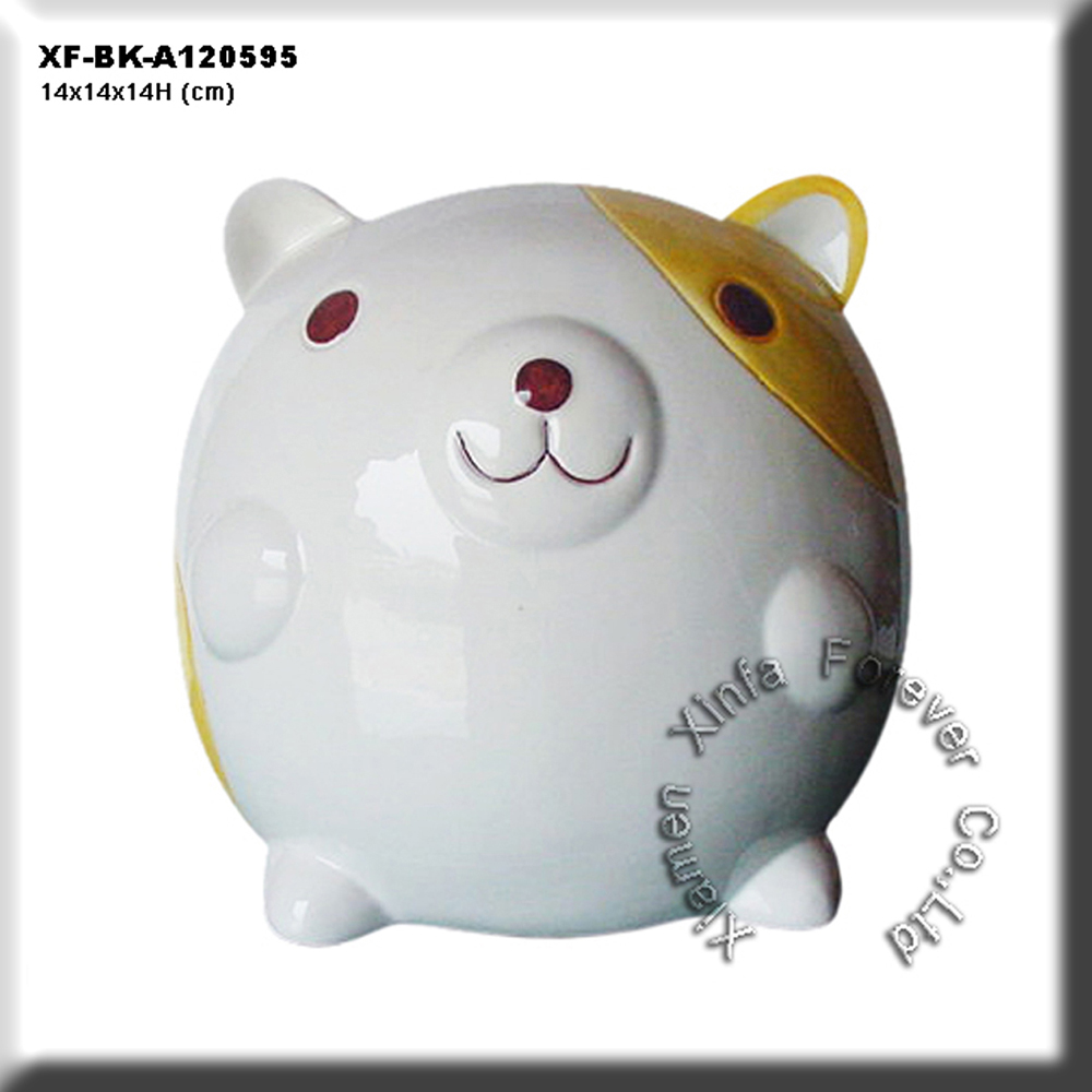 lovely ceramic bear coin saver