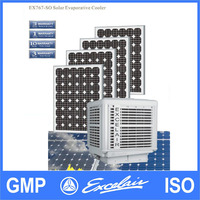 Energy saving roof mounted solar air cooler for industrial air cooling system