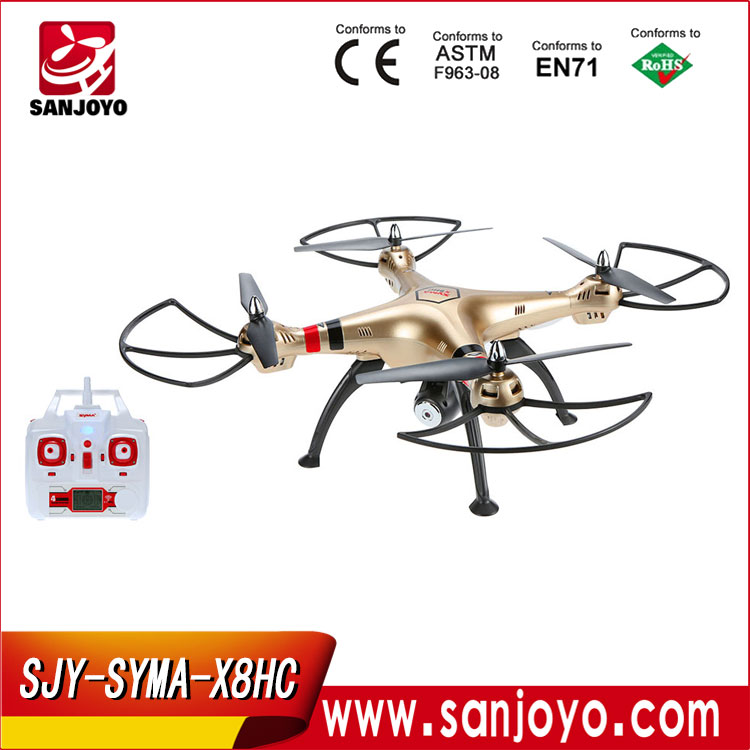 Newest Drone Camera Drone Professional 4ch 6 Axis Gyro Remote Control Toys SYMA X8HC 2MP RC Helicopter Racing Quadcopter